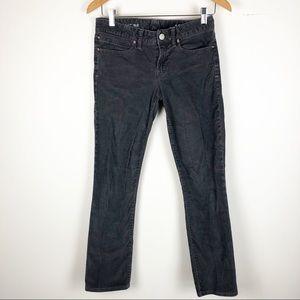 ☀️GAP Real Straight 26 Gray Corduroy Pants